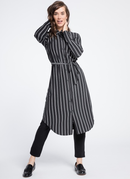 Sympli Go To Pinstripe Shirt Dress