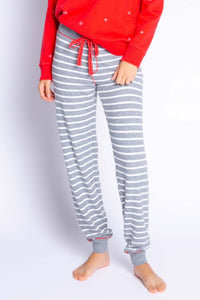 P.J Salvage Joyful Spirits Striped Jammie Pant