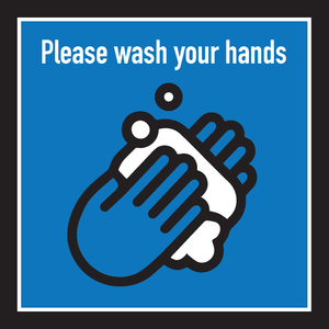 Wash Your Hands Reminder - Sold as a set of 3