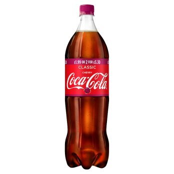 British Drinks  - Cherry Coke Bottles