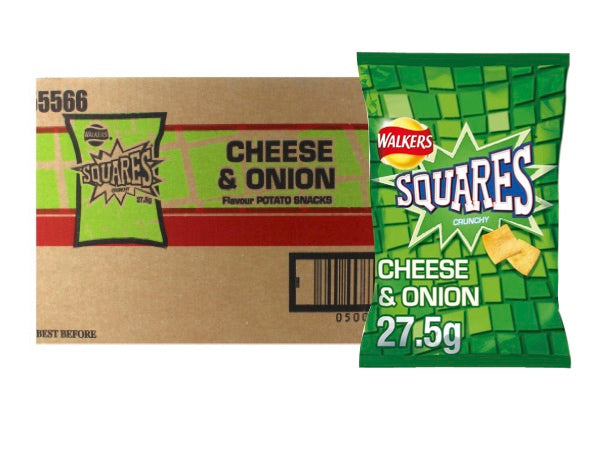 British Crisps - Squares Cheese & Onion