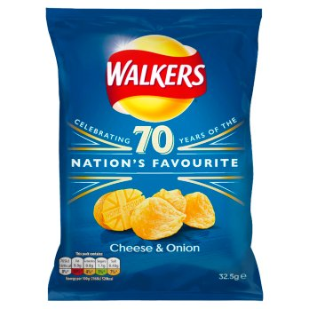 British Crisps - Walkers Cheese & Onion