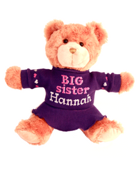 BIG SISTER Teddy Bear - Purple