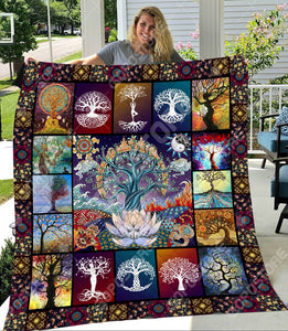 Beauty Tree Quilt Blanket