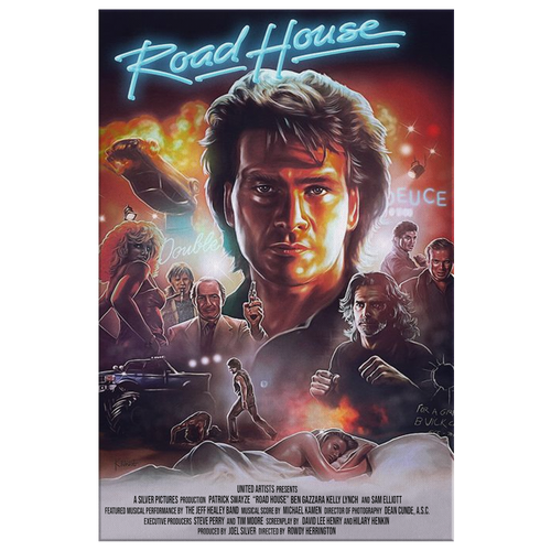 #Road #house The #Radical 80s movie gifts men women roadhouse Patrick Swayze canvas(TL)