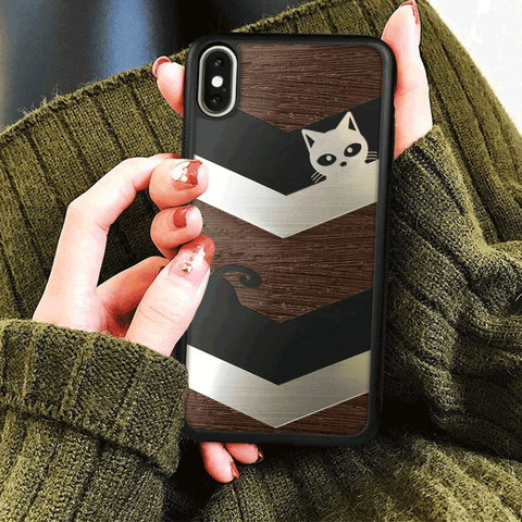 Black & White Cat - Phone Case