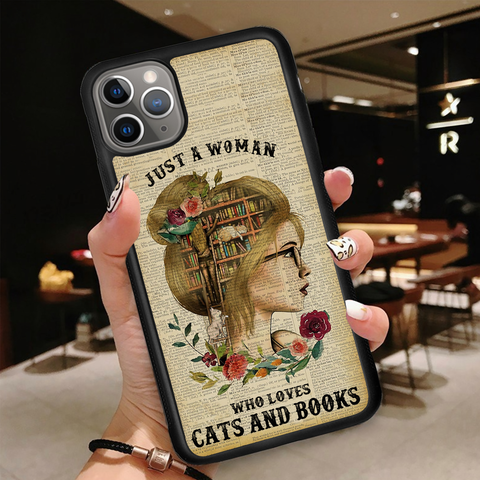 Woman Loves Cats - Phone Case