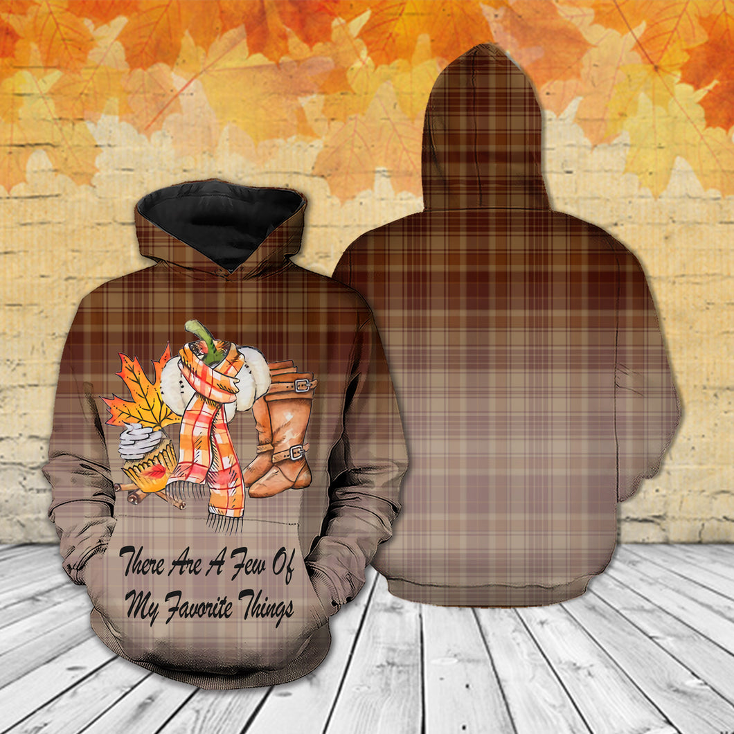 TT-HA Standard Printed Allover Hoodie And Sweater - There Are A Few Of My Favorite Things