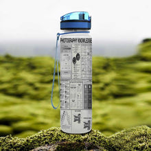 Load image into Gallery viewer, Photography Knowledge Water Tracker Bottle