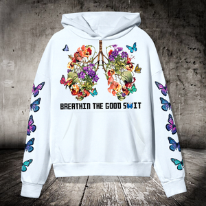 SP-LK Standard Printed Allover Hoodie - Breathin The Good Shit