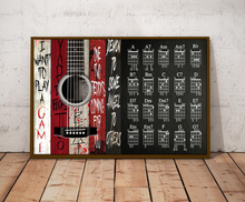 Load image into Gallery viewer, H-LK Horizontal Printed Canvas - Guitar Horror Movies