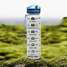 Load image into Gallery viewer, Camera Shooting Water Tracker Bottle