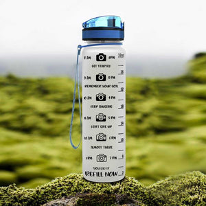 Camera Shooting Water Tracker Bottle