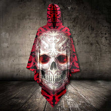 Load image into Gallery viewer, Skull Red Tattoo AllOver Unisex Cloak