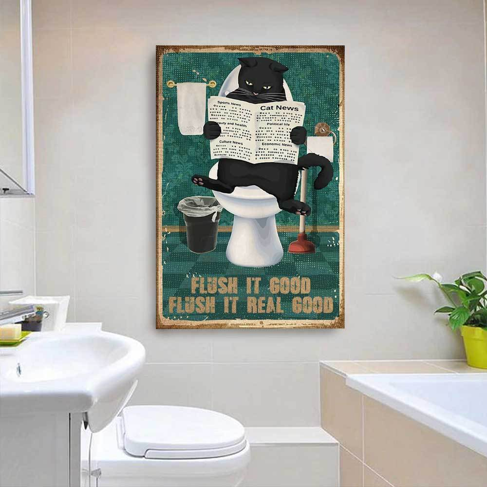 Flush It Good Flush It Real Wall Decor Canvas