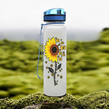 Load image into Gallery viewer, Sunflowers Cameras Water Tracker Bottle