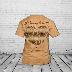 TR-DM Standard Printed Allover 3D Combo Shirt - I Cross My Heart