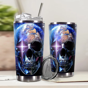 H-LK Design Vacuum Insulated Tumbler - Galaxy Skull