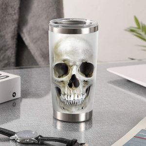 H-LK Design Vacuum Insulated Tumbler - Skull 3D The Most Beautiful Time