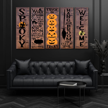 Load image into Gallery viewer, H-LK Combo 5 Vertical Printed Canvas - Halloween Front Porch Sign Pumpkins