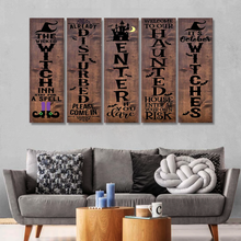 Load image into Gallery viewer, H-LK Combo 5 Vertical Printed Canvas - Halloween Front Porch Sign Haunted