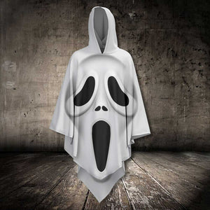 White Ghostface AllOver Unisex Cloak