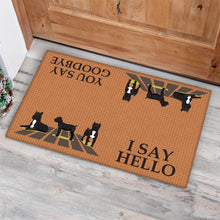 Load image into Gallery viewer, Cane Corso Dog I Say Hello Brown Doormat