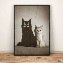 Load image into Gallery viewer, H-LK Vertical Printed Canvas - Jason Cat Shadow