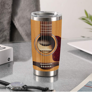TR-DM Design Vacuum Insulated Tumbler - Old Skeleton Playing Guitar