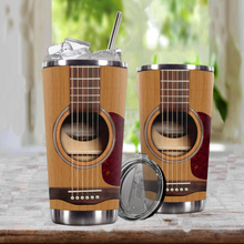Load image into Gallery viewer, TR-DM Design Vacuum Insulated Tumbler - Acoustic Guitar