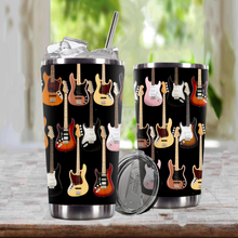 Load image into Gallery viewer, TR-DM Design Vacuum Insulated Tumbler - Guitars Fender