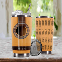 Load image into Gallery viewer, TR-DM Design Vacuum Insulated Tumbler - Seagull La Patrie Etude QII Acoustic-Electric Classical Guitar