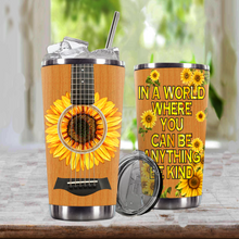 Load image into Gallery viewer, TR-DM Design Vacuum Insulated Tumbler - Blooming Sunflowers Guitar