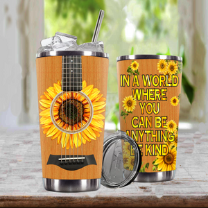 TR-DM Design Vacuum Insulated Tumbler - Blooming Sunflowers Guitar
