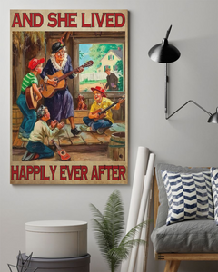 She Lived Happily Canvas