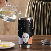 Load image into Gallery viewer, TR-DM Design Vacuum Insulated Tumbler - A Girl Loves Her Guitar
