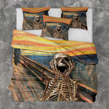 Load image into Gallery viewer, H-LK Polyester Soft Printed Bedding Set - Scream Skeleton