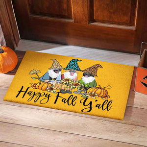Dogs German Shepherd Happy Fall Doormat