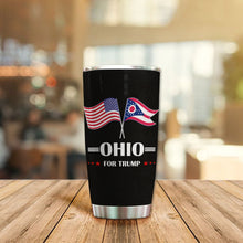 Load image into Gallery viewer, MC-DD Design Vacuum Insulated Tumbler - Ohio Flag For Trump