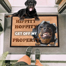 Load image into Gallery viewer, Get Off My Property Rottweiler Doormat