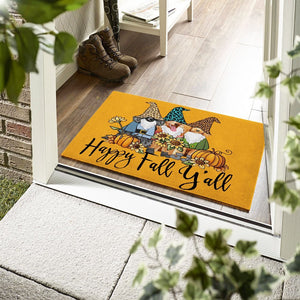 Dogs Poodle Happy Fall Doormat