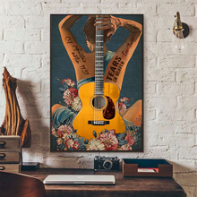 Load image into Gallery viewer, H-LK Vertical Printed Canvas - Yellow Guitar 1939