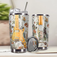 Load image into Gallery viewer, H-LK Design Vacuum Insulated Tumbler - Flowers Electric Guitar