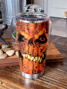 H-LK Design Vacuum Insulated Tumbler - Pumpkin Monster