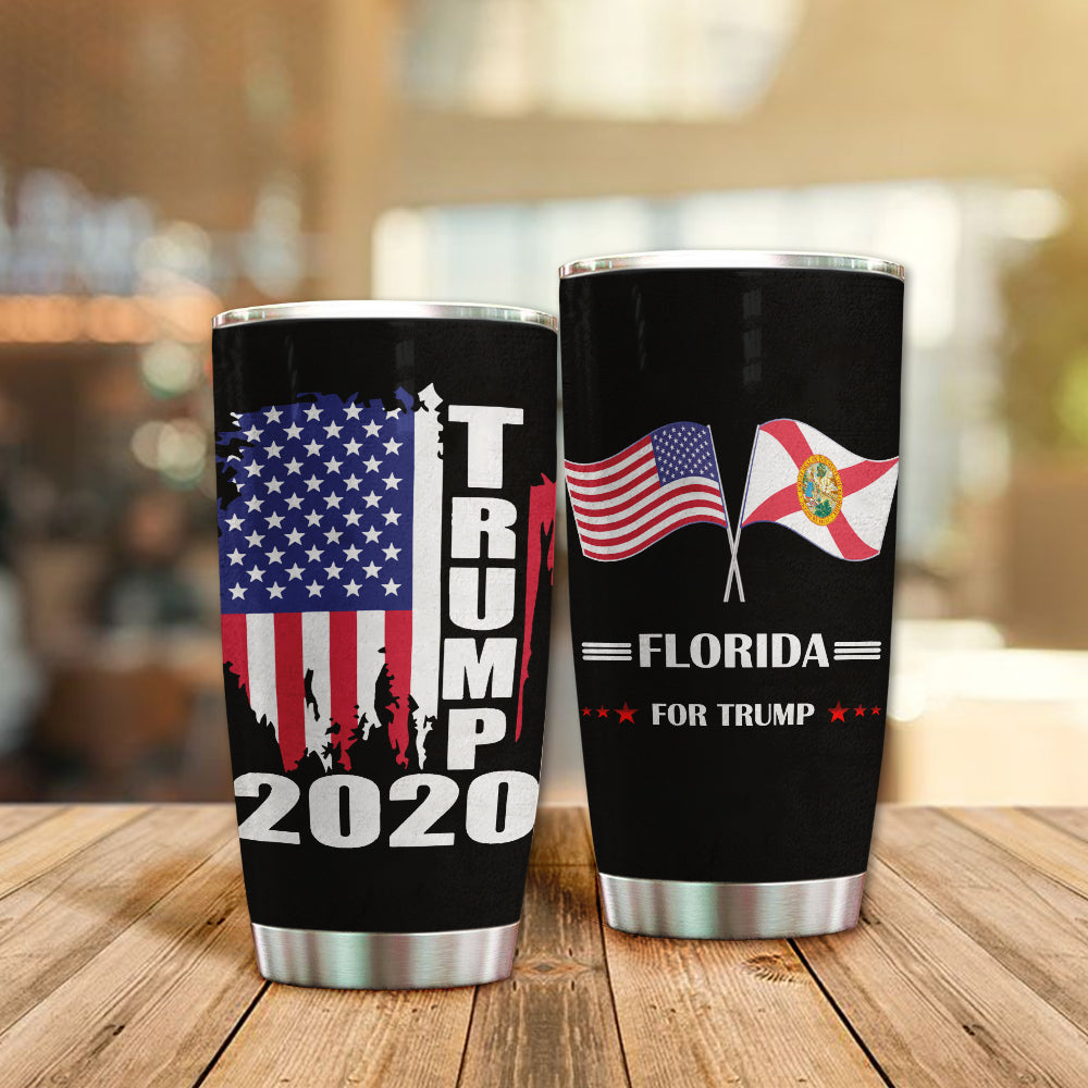 MC-DD Design Vacuum Insulated Tumbler - Florida Flag For Trump