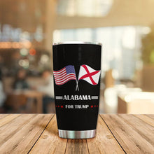 Load image into Gallery viewer, MC-DD Design Vacuum Insulated Tumbler - Alabama Flag For Trump