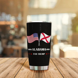 MC-DD Design Vacuum Insulated Tumbler - Alabama Flag For Trump