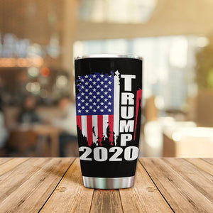 MC-DD Design Vacuum Insulated Tumbler - Ohio Flag For Trump