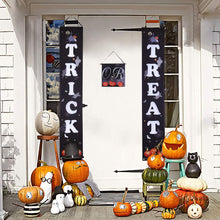 Load image into Gallery viewer, 2 Pieces Trick or Treat Halloween Decorations Banner Porch Sign