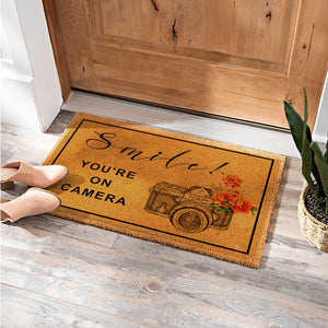 Smile! You're On Nikon Camera Doormat